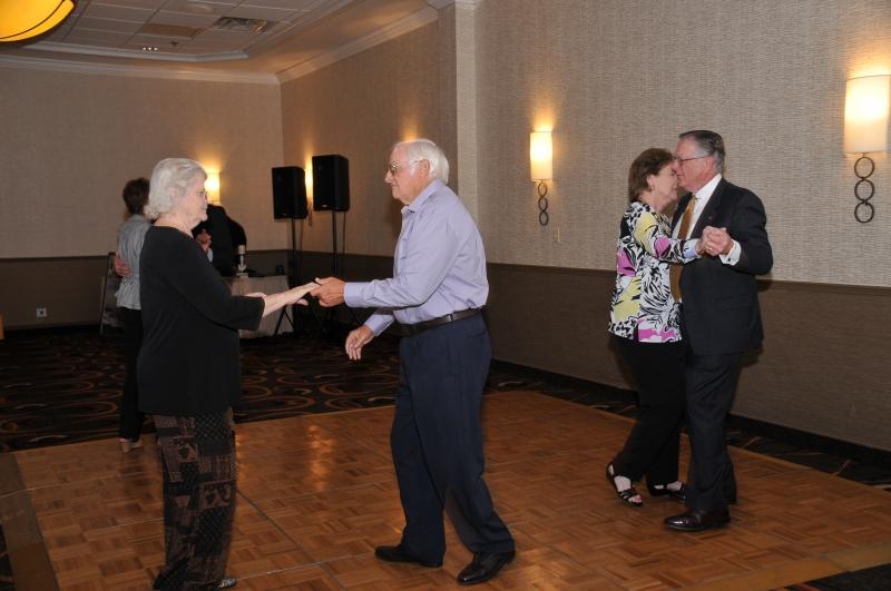 BANQUET DANCING - HARRIET+ ROGER NESBITT, JANET + MIKE GRAMZA
