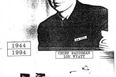 USS Noa Chief Radioman Lou Wyatt, 1944 and 1994