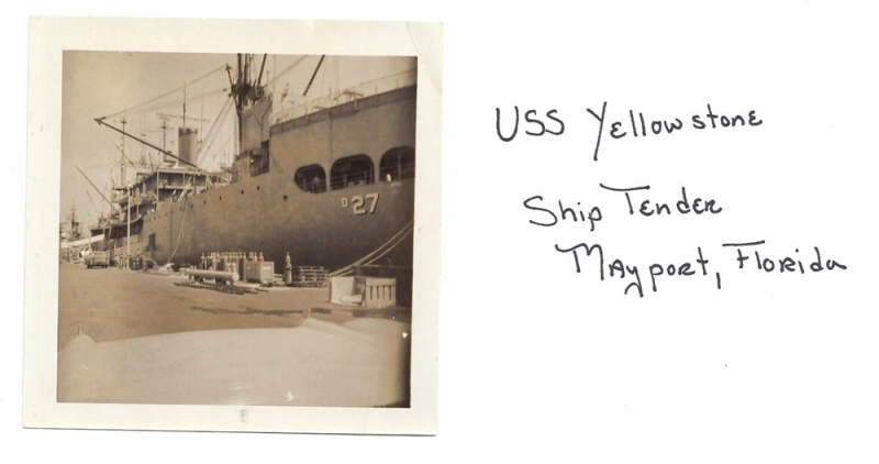 USS Yellowstone - ship tender, 1952