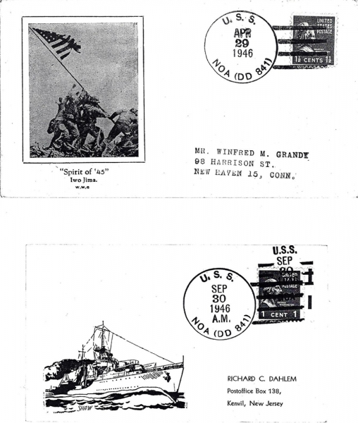 NOA Post Office Stamps - 1946