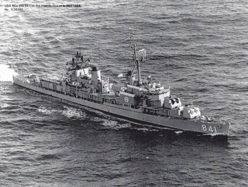 USS-NOA DD-841 Atlantic Ocean, New York, Nov-68