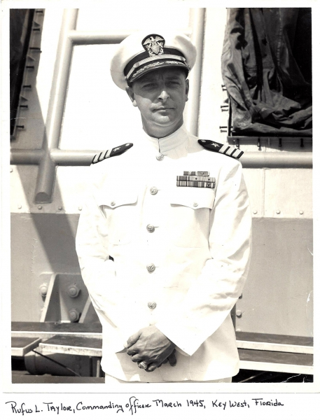 Commanding Officer, Rufus L. Taylor, March 1948