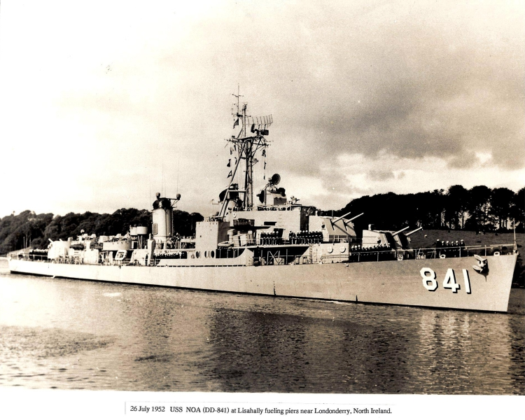 USS-NOA DD-841, near Londonderry, North Ireland, 26-Jul-1952